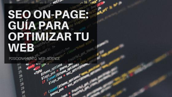 SEO on-page Guía para optimizar tu web