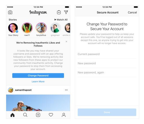 Anuncio de instagram en cuentas con bots