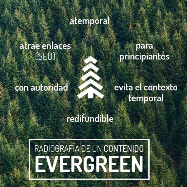 radiografia del contenido evergreen