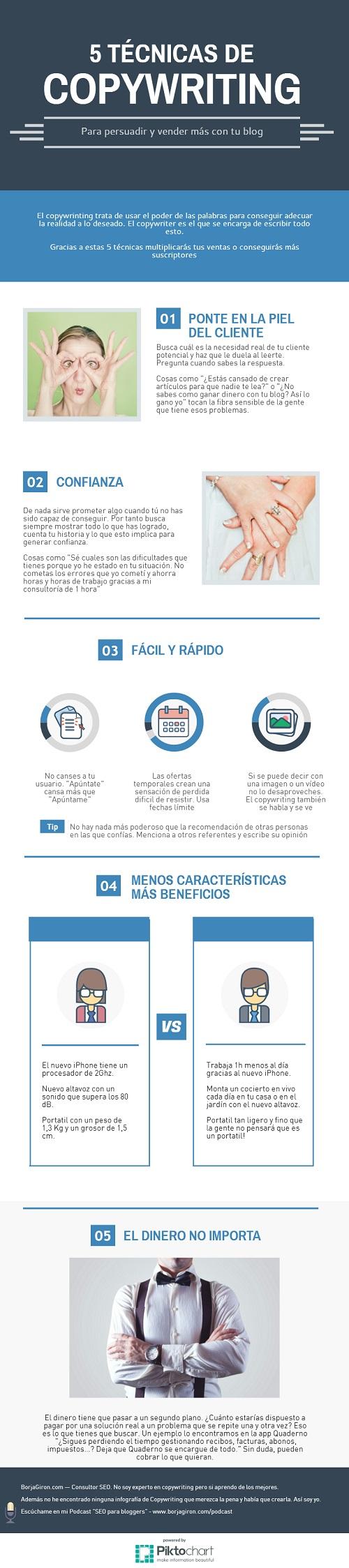 técnicas de copywriting para vender más #infografía